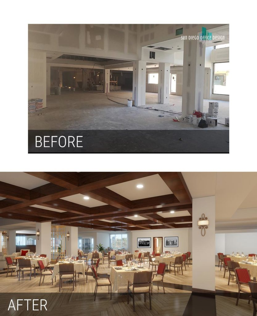 Before and After - Lantern Crest Dining