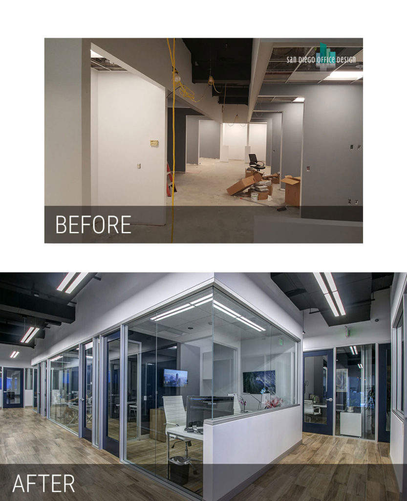 Before and After - Pacific Sothebys Private Offices